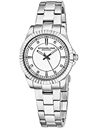 Stuhrling Original Women's Quartz Watch with Silver Dial Analogue Display and Silver Stainless Steel Bracelet 408LL.01