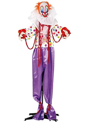 Fiestas Guirca Halloween Moving Scary Killer Clown Prop Party Dekoration
