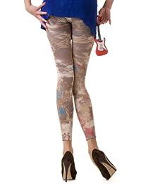 Hotlook Leggings Number One braun blau rot Fullprint bedruckt Hotlook