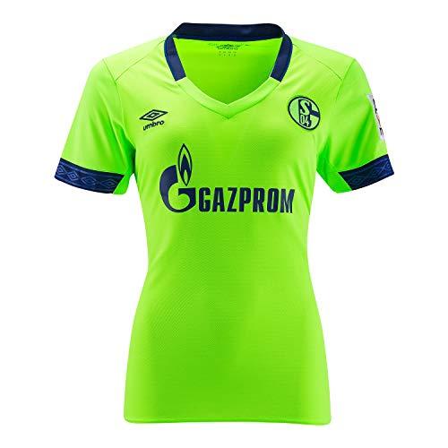 Umbro FC Schalke 04 Damen 3rd Trikot Jersey 18/19-79299U neongrün, Größe:40