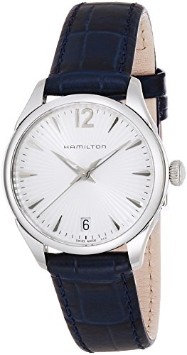 HAMILTON WOMEN'S 30MM BLUE LEATHER BAND STEEL CASE QUARTZ WATCH H42211655
