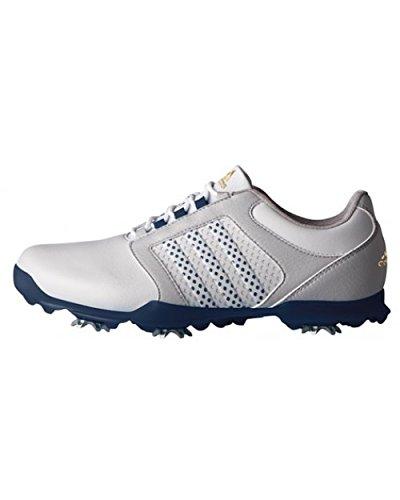 adidas Damen Adipure Tour Golfschuhe, Grau (Clear Grey/Mystery Blue/Mystery Blue), 38 EU