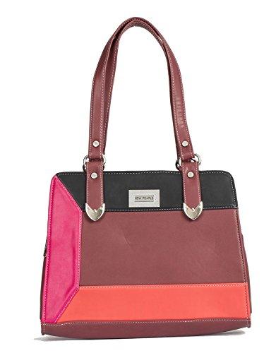 Big Handbag Shop, Borsa a mano donna Taglia unica Deep Red