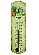 Lieferumfang: Froggit Vintage Blechthermometer mit Gartenmotiv