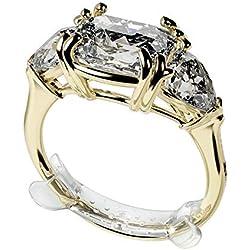 Ringo - Lot de 10 Ajusteurs de Bagues Invisibles Composés d'un Polymère à Mémoire de Forme - Réducteurs de Bagues Transparents - - Unisexe - Ring Sizer Disponible en 6 Dimensions