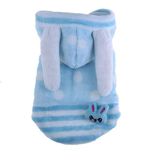 Kaninchen Kostüm Dog - Big Ear Dog Puppy Kaninchen Kostüm Kleidung Winter Hundemantel Jacke Puppy Apparel