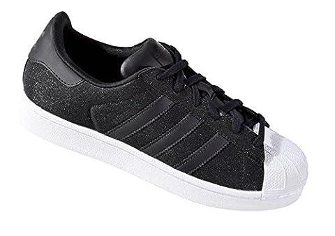 adidas Damen Superstar W Turnschuhe, Schwarz / Weiß (Negbas / Negbas / Ftwbla), 40 EU