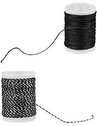 Gazechimp 2pcs 110m Cuerda de Material de Porción de Fibra Ductilidad Fuerza de Tracción Resistente al Desgaste Accesorio de Deporte