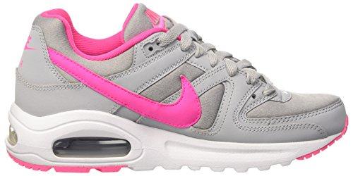 Nike Air Max Command Flex (Gs), Scarpe da Corsa Donna Multicolore (Wolf Grey/Pink Blast/White)