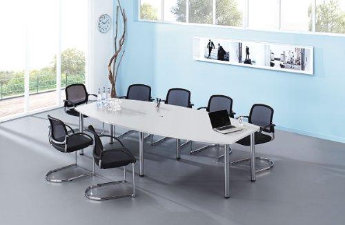 Hammerbacher Konferenztisch/Chromfuß grau, VKT28C/5