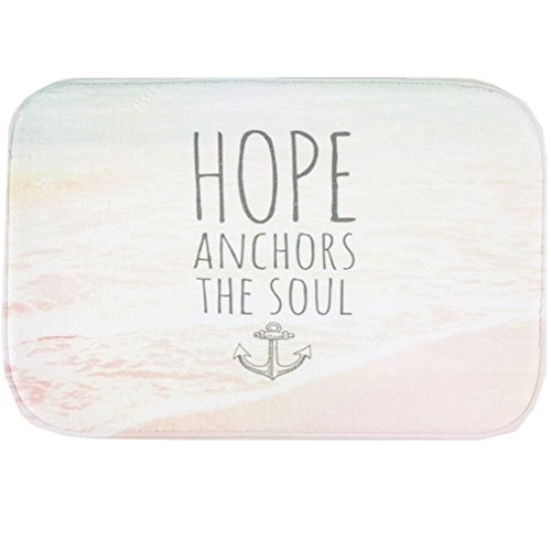 O-C Hope Words Outdoor Indoor Antiskid Absorbent Bedroom Livingroom Bath Mat Bathroom Shower Rugs Doormats