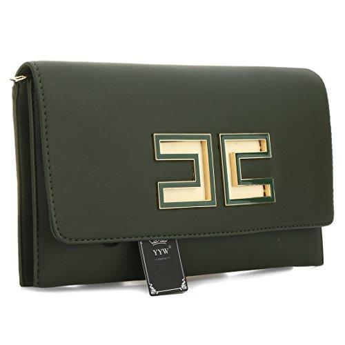 YYW Evening Bag, Borsetta da polso donna Green