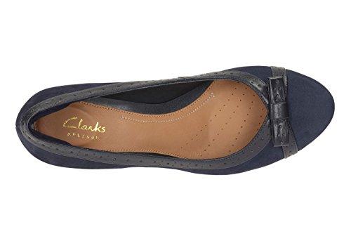 Clarks 261194124, Scarpe col tacco bambine Azzuro