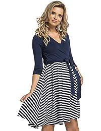 Happy Mama Damen Umstandskleid Stillkleid 3 4 Ärmel 525p b85102971f