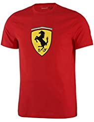 Ferrari rojo Classic Shield – Camiseta de manga corta