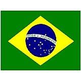 Brasil henbrandt/bandera brasileña 152,4 cm x 91,44 cm con ojales (100% poliéster) para colgar