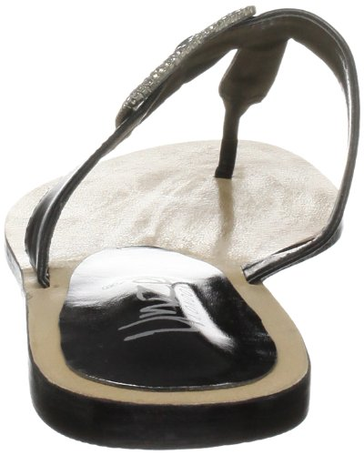 Unze Evening Slippers, Damen Slipper Schwarz (L18263W)