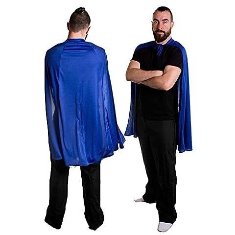 SUPERHELDEN ODER HELDINEN UMHANG IN 6 VERSCHIEDENEN FARBEN= VON ILOVEFANCYDRESS®=HERO CAPE IN BLAU (Die X-men Kostüme)