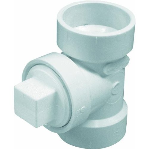 Genova Products 71315 Test Tee Pipe Fitting with Plug, 1 1/2 by Genova