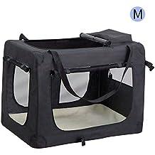 Wellhome Bolsa de Transporte Perro Transportín para Perros Gatos Capazo Portador Tela Mascotas Portátil Plegable M