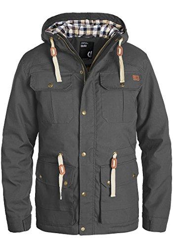 SOLID Chara Herren Übergangsjacke Jacke mit Kapuze aus hochwertigem Material, Größe:M, Farbe:Dark Grey (2890)