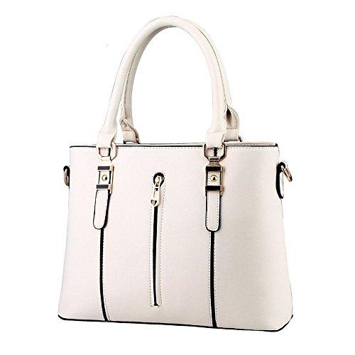 koson-man-damen-pu-leder-reissverschluss-vintage-tote-taschen-top-griff-handtasche-weiss-weiss-kmukh
