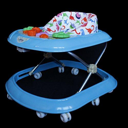 Gehfrei Baby Walker Lauflernwagen Lauflernhilfe Wunsch Farben Spielcenter (Türkis)