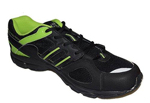 BTS 1326–12 course léger et confortable que chaussures de sport, couleur noir/vert-taille 49 Multicolore - Schwarz/ Grün