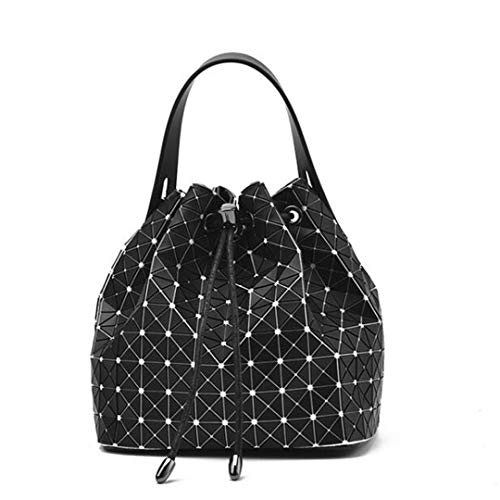 Frauen-Einkaufstasche-Geometrie-Schulter-Taschen-faltende Eimer-Handtaschen-Kuriertaschen Ban Dian HUI
