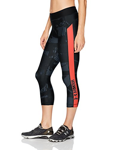 Under Armour Ua Hg Printgrap Mallas Capri, Mujer, Gris, XL