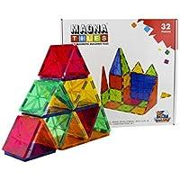 Magna Tiles by Flying Start Magnetic Tiles 3 D Construction Set 32 Pcs