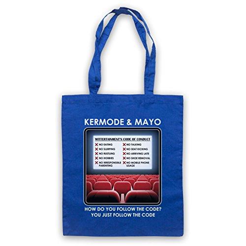 Inspiriert durch Kermode & Mayo Wittertainment Code Of Conduct Inoffiziell Umhangetaschen Blau