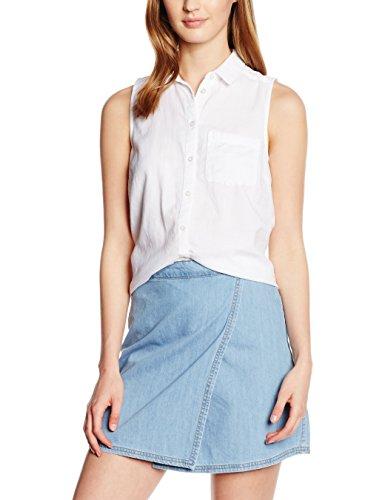 New Look Twill, Blouse Femme Blanc - Blanc