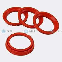 RKC 4X Anelli di centraggio Arancio 60,1 mm x 58,1 mm 1x Pastello per Gomma e Pneumatici in Verde Prodotto in Germania