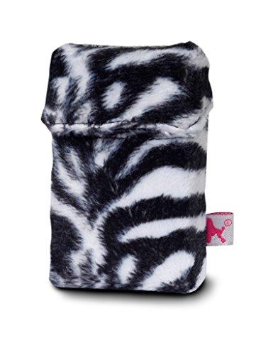 Abbildung: Smokeshirt modische Hülle für Zigarettenschachteln, Überzug, Etui, Zigarettenhülle für Zigarettenpackungen, Zigarettenetui, Fell, Zebra