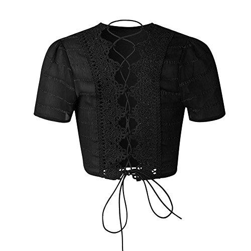 Vêtements LILICAT Womens Sexy Back Halter Bandage manches courtes Top Shirt Blouse Shorts Pant 2PCS Set Noir et Rouge S-XL Black