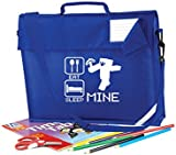 Childrens Eat Sleep Mine School Junior Book Bag With Strap and Safety Strip