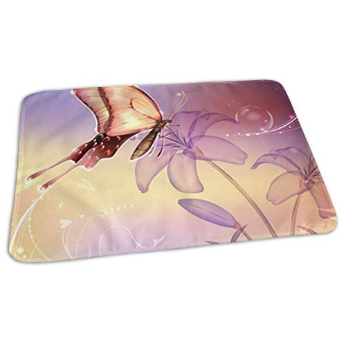 Voxpkrs Baby Changing Pad Liners Colorful Butterfly Print Weiche Wickelauflage für Jungen Mädchen 25.5