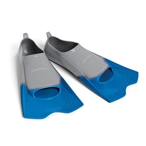 Zoggs Unisexe Ultra Blue Palmes de Natation Aide à l'entraînement pour Une Meilleure Technique, Bleu/Gris, (EU 45-46/Uk11-12)
