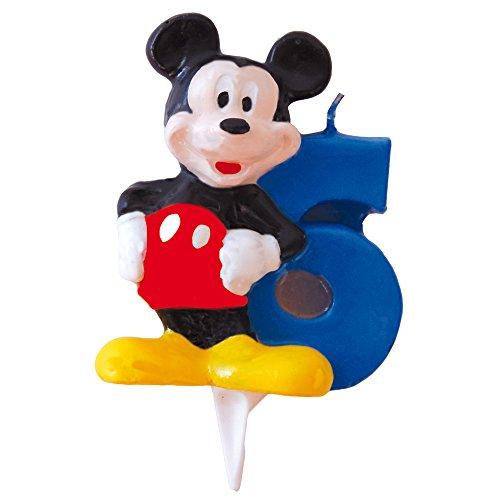 Mickey Maus –, Kerze, Zahl 6Design (verbetena 014000396) (Mickey Geburtstag Zahl)
