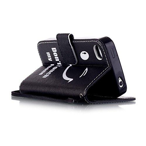 MOONCASE Étui pour iPhone 4 / 4S Printing Series Coque en Cuir Portefeuille Housse de Protection à rabat Case YB12 YB03 #0305