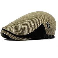 GHC Gorras y Sombreros Sombrero de Lana de periódico de algodón 2019, Gorro para Damas Bonnet para Hombre Retro, Gorros de Taxi Planos Sombrero Retro Boina (Color : Army Green, tamaño : 56-58cm)