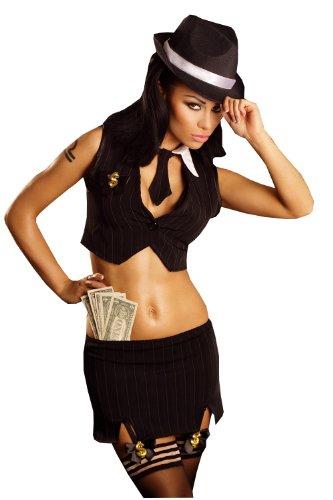 4-teiliges schwarzes Outfit Gangstas Paradise L/XL von Lolitta (Gangsta Outfit)