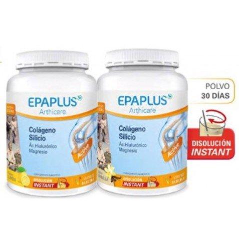 Epaplus Colágeno + Ácido Hialurónico y Magnesio Polvo Limon - Paquete de 2 x 332 gr - Total: 664 gr