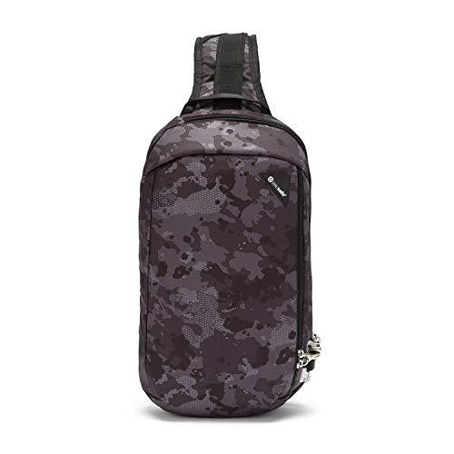 Pacsafe Vibe 325 - Anti-Diebstahl Cross-Body-Bag, Umhängetasche, Sling Bag, Grau Camo/Grey Camo -