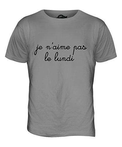 CandyMix Je N Aime Pas Le Lundi Herren T Shirt Hellgrau