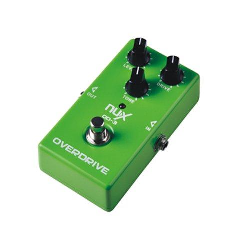 Andoer NUX OD-3 Overdrive Guitarra Eléctrica Efecto de Pedal Bypass Verdadero Verde