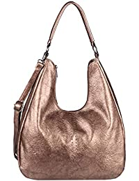 7fa3429b0f7ea OBC Damen Tasche Shopper Hobo-Bag Henkeltasche Schultertasche Umhängetasche  Handtasche Crossover CrossBag Damentasche…