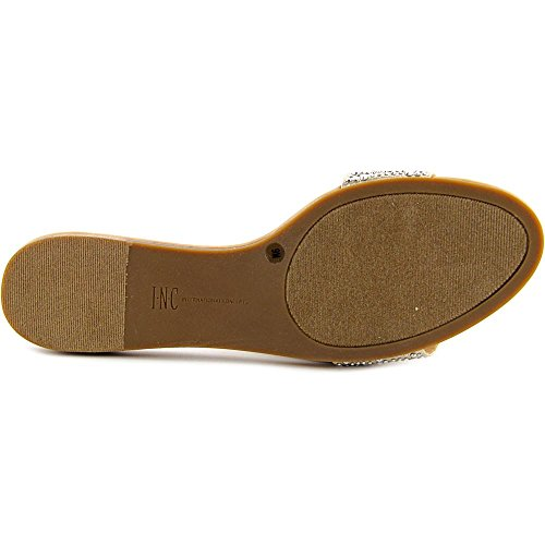 INC International Concepts Zinaa 2 Damen Textile Sandale Pearl Gold..