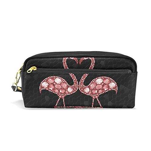 isaoa Bleistift Fall Travel Make Up Tasche, Abstrakt Flamingos, große Kapazität Light tragbar Tasche Geschenk für Kinder Mädchen Frau